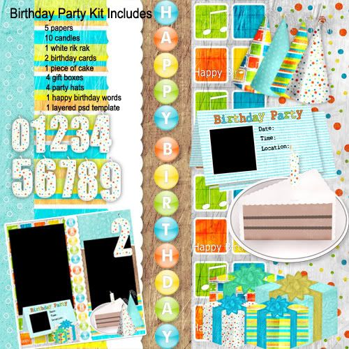 Birthday Digital Scrapbooking Freebie | Digital Scrapbooking Freebies -Mommyscraps
