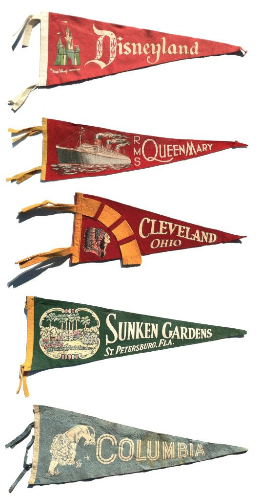 vintage souvenir pennants