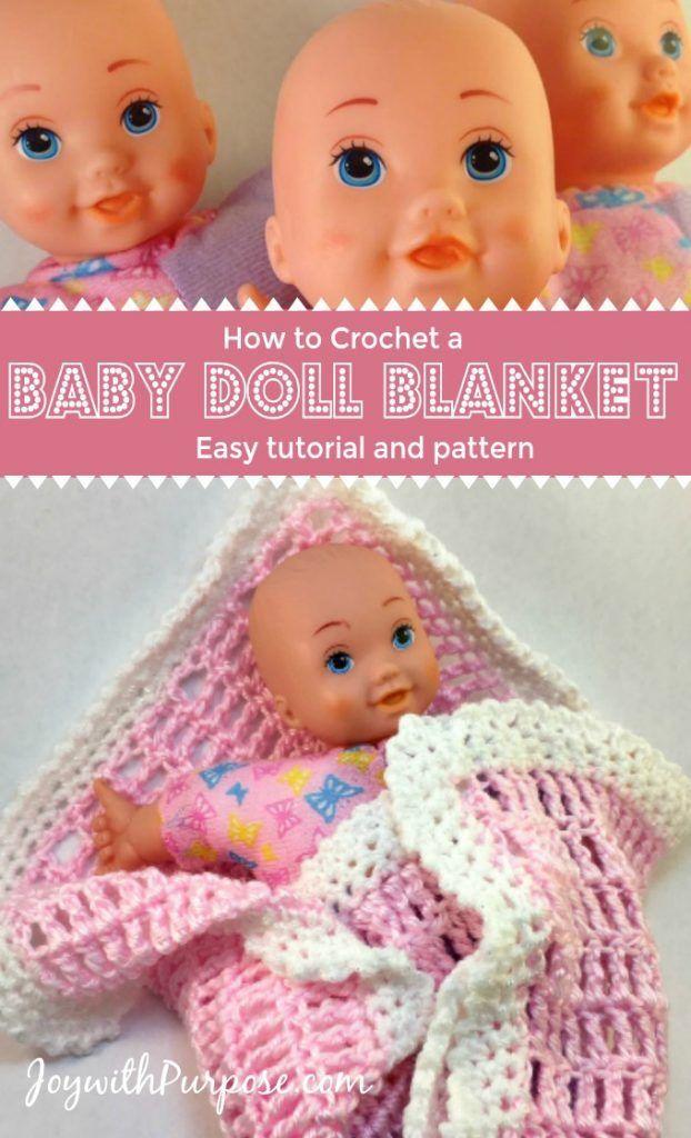 Easy Crocheted Baby Doll Blanket Crochetknit Pinterest Baby