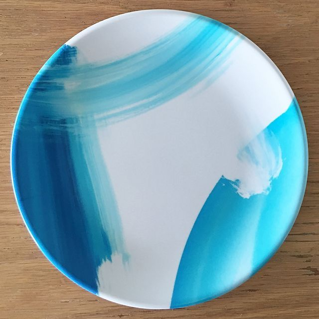 Jenniferlia Blue Steel Melamine Plate (Set of 4)