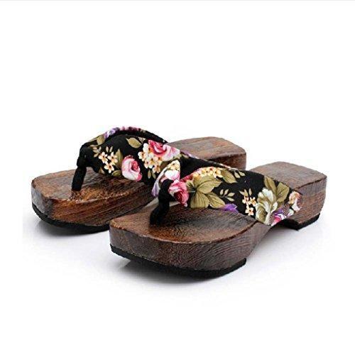 Oferta: 5.53€. Comprar Ofertas de Winwintom Mujeres Casual Verano Plataforma Zapatos Madera Mujeres Flor Sandalias Zueco Deslizadores De Madera Flip Flops (39, barato. ¡Mira las ofertas!