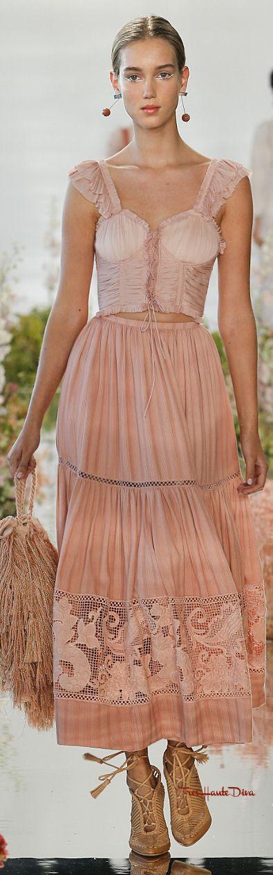 Ulla Johnson 2018 RTW #NYFW #NYFWss18 peach peasant - Today's Fashion Crush
