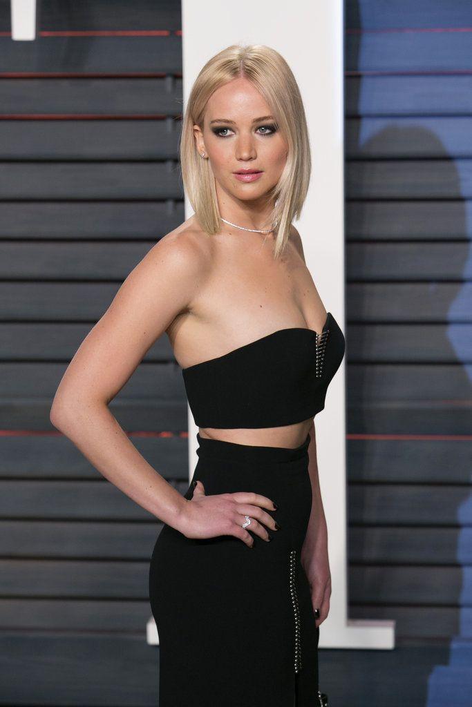 Jennifer Lawrence at Vanity Fair Oscars Party 2016 | POPSUGAR Celebrity
