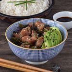 Ensalada poke de atún y algas con aguacate. ☀️Receta hawaiana para alegrarte la mañana . . . #food #foodie #cooking #cocina #receta #recipe #gastro #foodlover #directopaladar