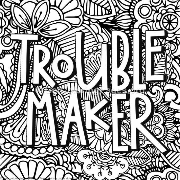 Zentangle Trouble Maker Coloring Pages Getcoloringpages Org Col