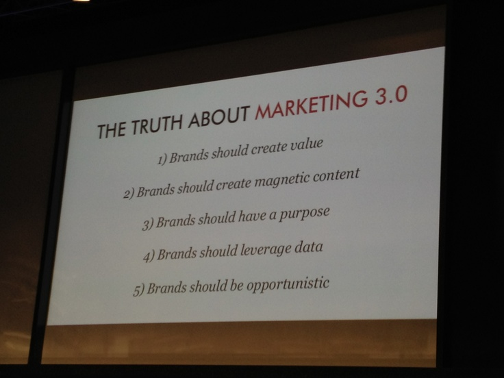 The truth about Marketing 3.0 by Nick Brien (Chairman & CEO of McCann Worldgroup)