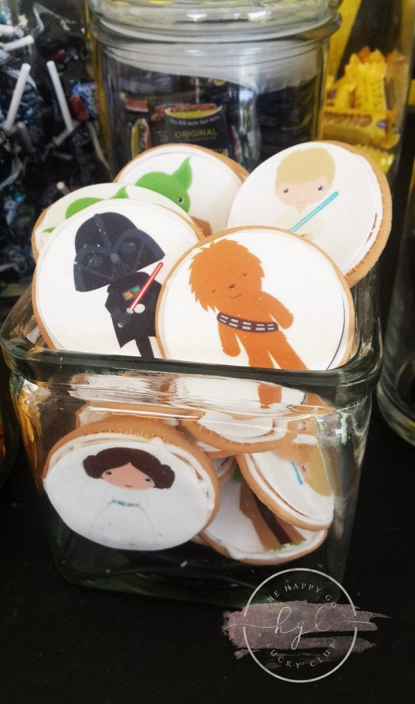 Star Wars Party Character Cookies