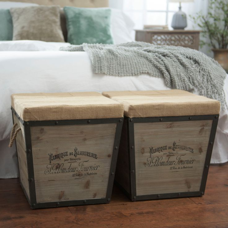 Distressed Wood Storage Ottoman ~ Best burlap ottoman ideas on pinterest tyres recycle