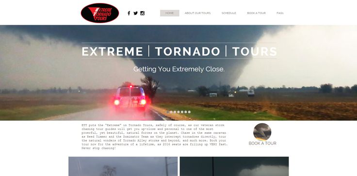 Extreme Tornado Tours website feature - 11/13/15