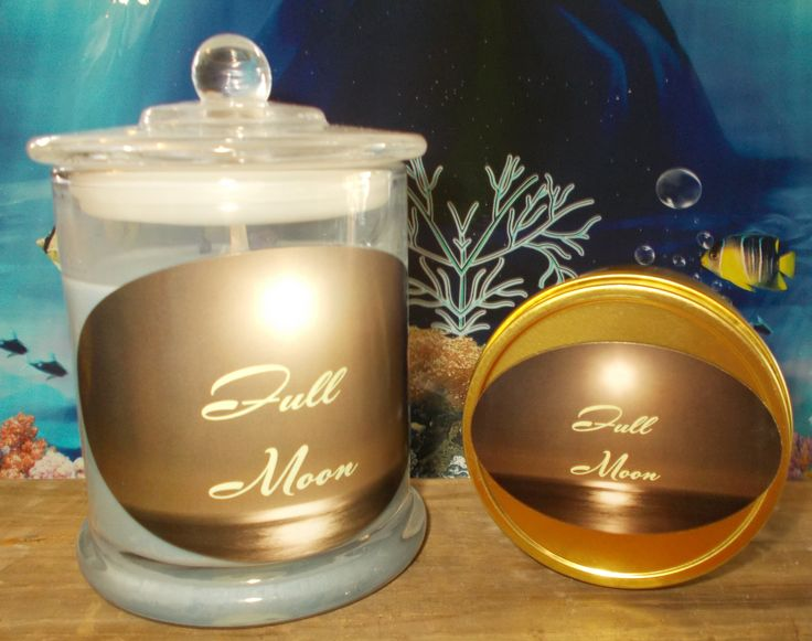 Full Moon  Hand poured Natural Eco 100% Soy Candles in Glass jar or travel tins