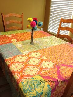 Easy reversible tablecloth DIY with Dena Designs fabrics