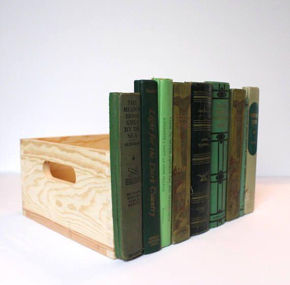 Gift For Dad False Front Book Wood Crate Desktop Storage Secret