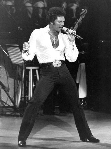 Sir Tom Jones. A very sexy man. His pants looked like they were painted on. One of the best singers back in the 60's and 70's. HOT.