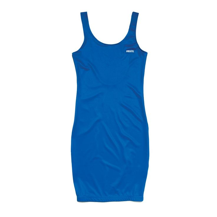 Sukienka TIGHT BLUE Prosta obcisła sukienka z lycry. Na piersi mały haft z logo Prosto.