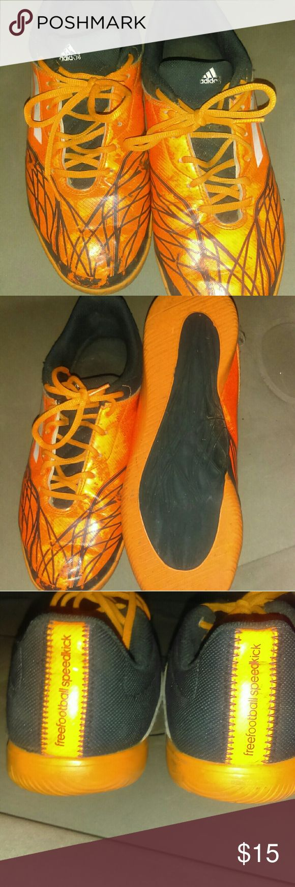 Adidas indoor soccer shoes Stylish and comfortable indoor soccer shoes! Mint condition hardly used no major tear at all! Don't use them anymore so they can be useful for another gol scorer!!! adidas Shoes Athletic Shoes