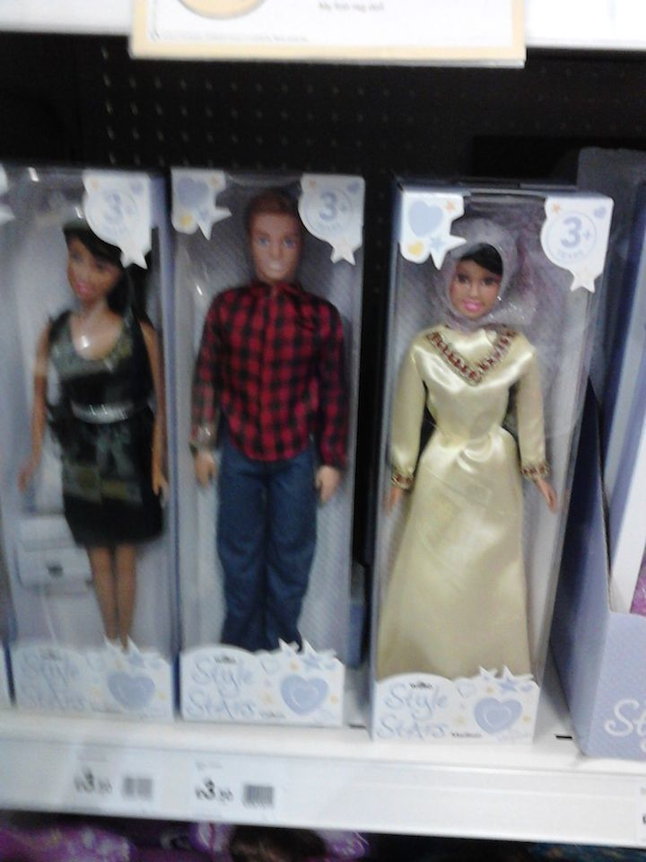 Image of hope, Poundland, Ilford: fashion dolls for little Muslim girls win their place on the shelves.