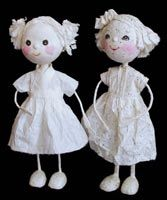This tutorial gives invaluable help in making yourself a lovely papier mache doll. - Finished examples