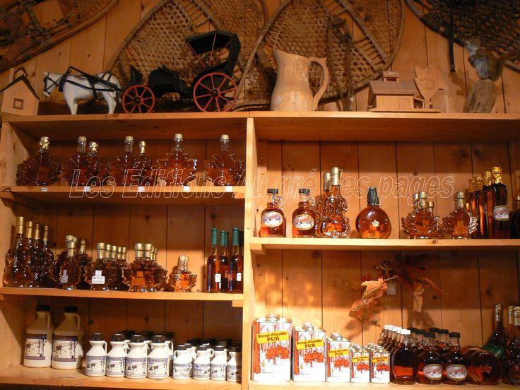 Une vue (bien partielle) de quelques produits de l'érable dans la boutique de l'Érablière du Lac Beauport.