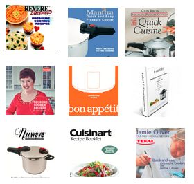 Download 13 Pressure Cooker Recipe booklets.. for free! PDFs of the booklets that usually come in the box with a pressure cooker.