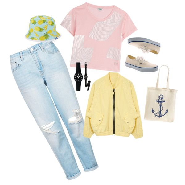 #4 by cici-munada on Polyvore featuring Kenzo, Topshop, Vans, Tri-coastal Design, Swatch and Keds