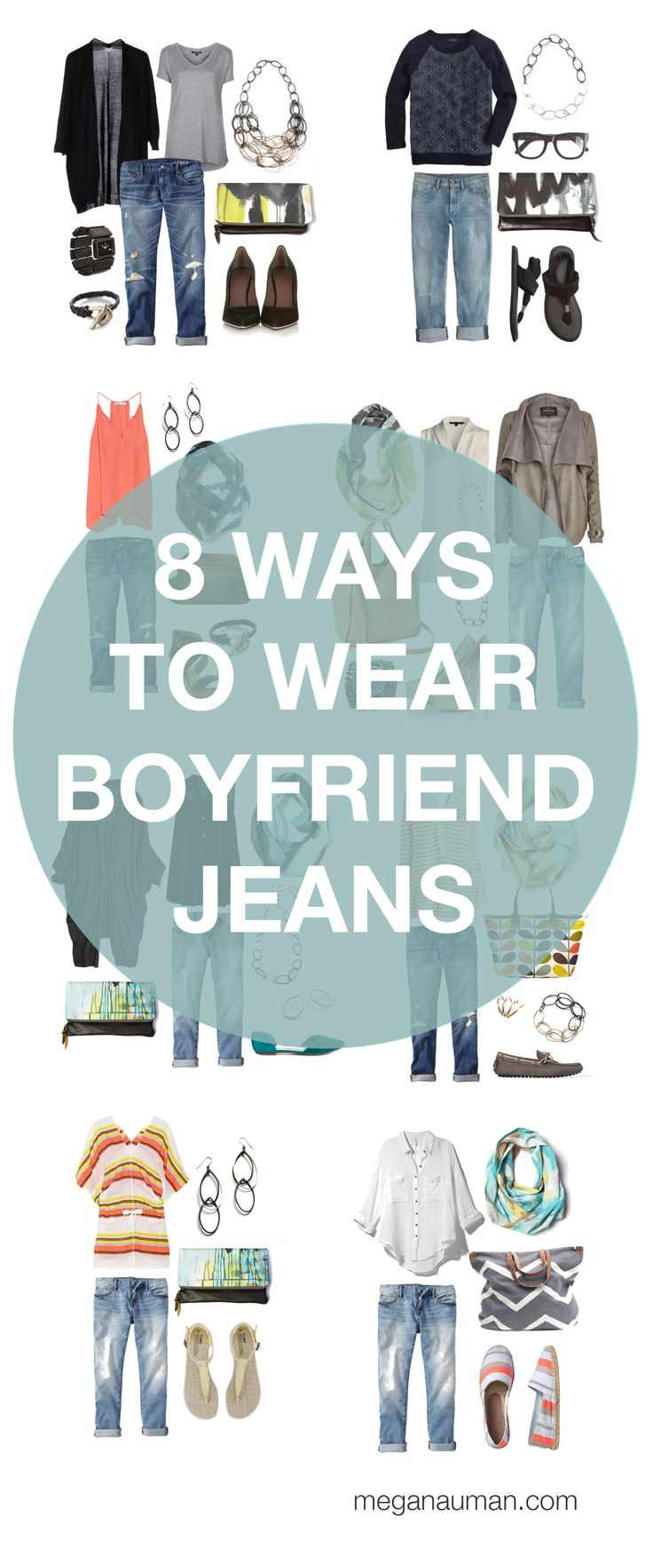 boyfriend jeans outfit inspiration // 8 ways to style your boyfriend jeans by megan auman