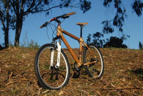 Luntian All-Terrain bamboo bike.  A bamboo bike handmade in the Philippines by a group of villagers from Gawad Kalinga Victoria. Part of a socio-ecological enterprise working for people, the planet, and progress.