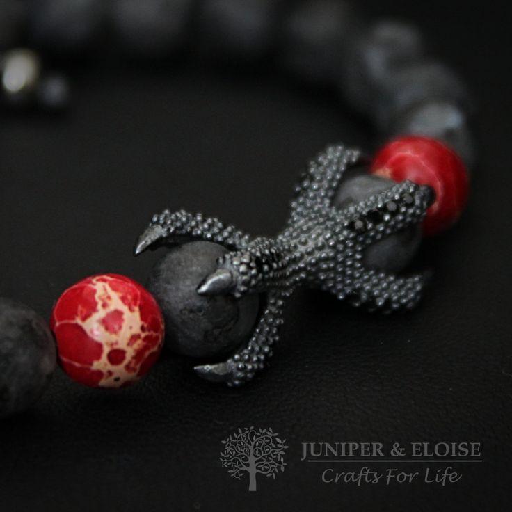 Mens Bracelet Game Of Thrones inspired Dragon, Targaryen, Jewelry 925 Silver Dragon Claw, Bracelet For Men , Gift For GOT Fans, armband by JuniperandEloise on Etsy