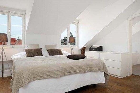 White Interior Master Bedroom In The Attic Attic Master