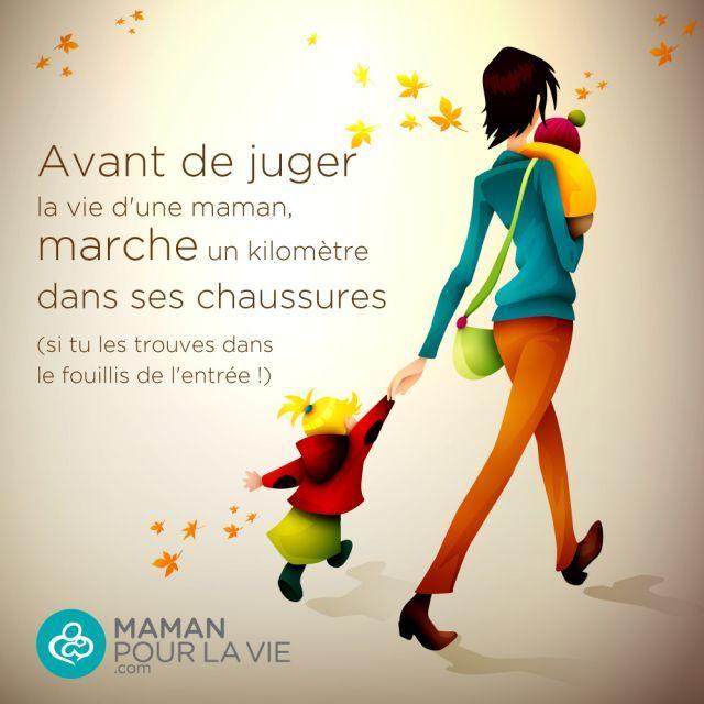 Avant de juger la vie d'une #maman, marche un kilomètre dans ses chaussures (si tu les trouves dans le fouillis de l'entrée!) #Maternite #Enfants
