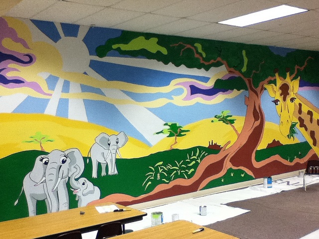 Creation Mural That I Designed And Painted At My Church. Part 27