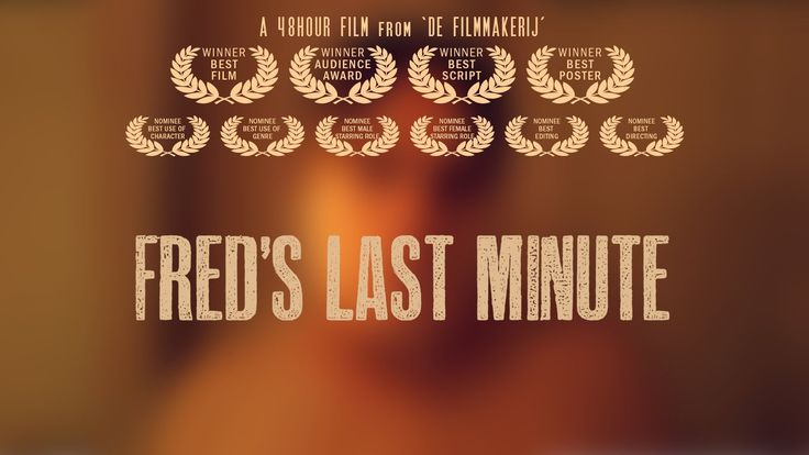 Title Fred's Last Minute (2013) | Team FilmMakerij | By Unknown | Genre Vacation/Holliday | Line 'Snel, verstop je onder het bureau' | Prop: Men Bag | Character Fred/Fredau Buwalda |  Profession Arm Wrestler | Required Element of Location Leeuwarden |