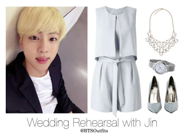 """""""Wedding Rehearsal with Jin"""" by btsoutfits ❤ liked on Polyvore featuring Miss Selfridge, Jeffrey Campbell and Accessorize"""