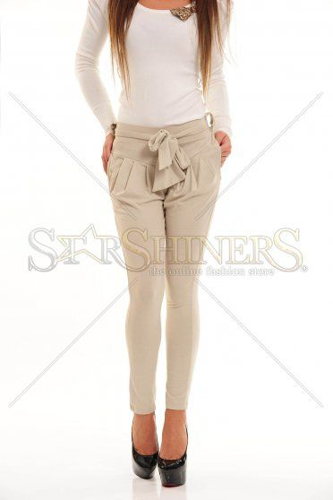 Pantaloni My77 Trendy Style Cream