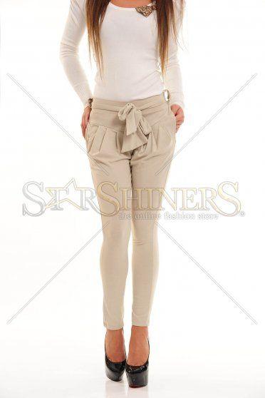 Pantaloni My77 Trendy Style Cream