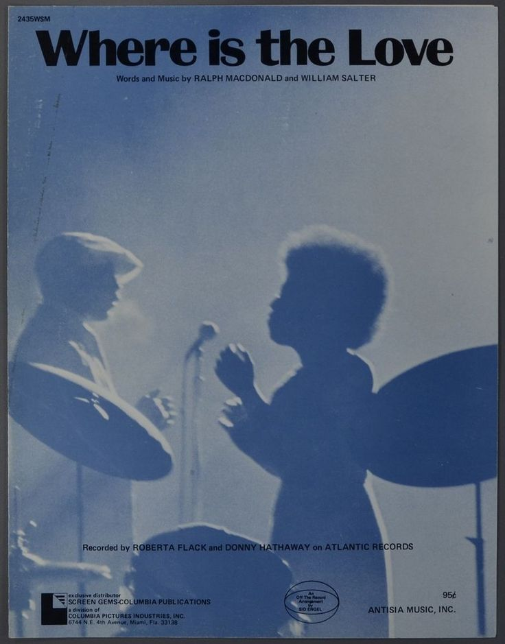 1972 WHERE IS THE LOVE MacDonald and Salter ROBERTA FLACK Donny Hathaway