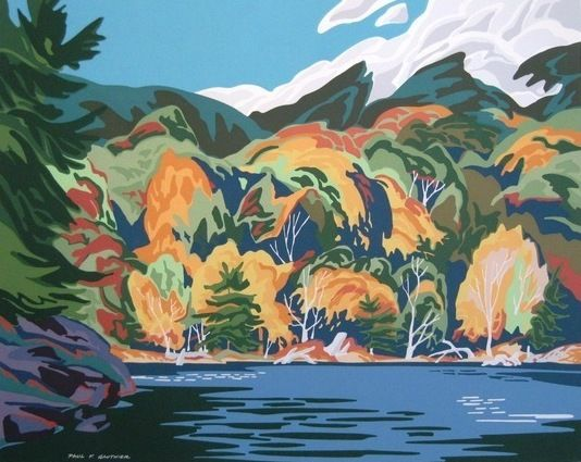 Auction item 'Kushog Lake, limited edition signed serigraph' hosted online at 32auctions.