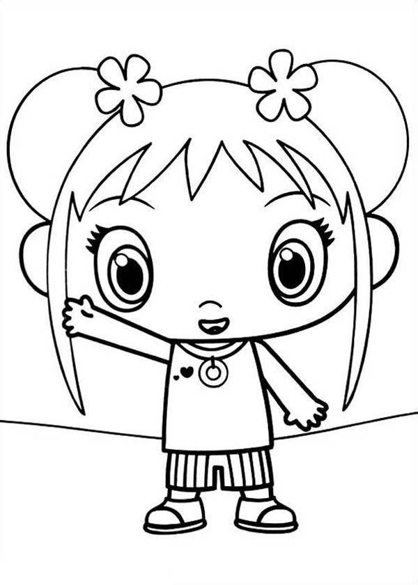 Kai Lan Waving Her Hand in Ni Hao Kai Lan Coloring Page ...
