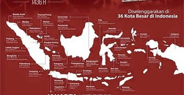 Menyerukan Penegakkan Khilafah, HTI Rapat dan Pawai Akbar di 36 Kota | Hizbut Tahrir Indonesia