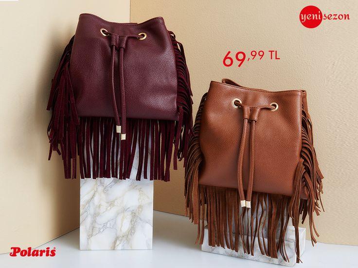Sonbahar renkleri en sevilen çantalara yansıdı! Püsküller ile birlikte hareketlenen bucket çantalar, yeni sezonda Polaris'te!  #AW1617 #newseason #autumn #winter #sonbahar #kış #yenisezon #fashion #fashionable #style #stylish #polaris #polarisayakkabi #shoe #ayakkabı #shop #shopping #women #womenfashion #trend #moda #ayakkabıaşkı #shoeoftheday