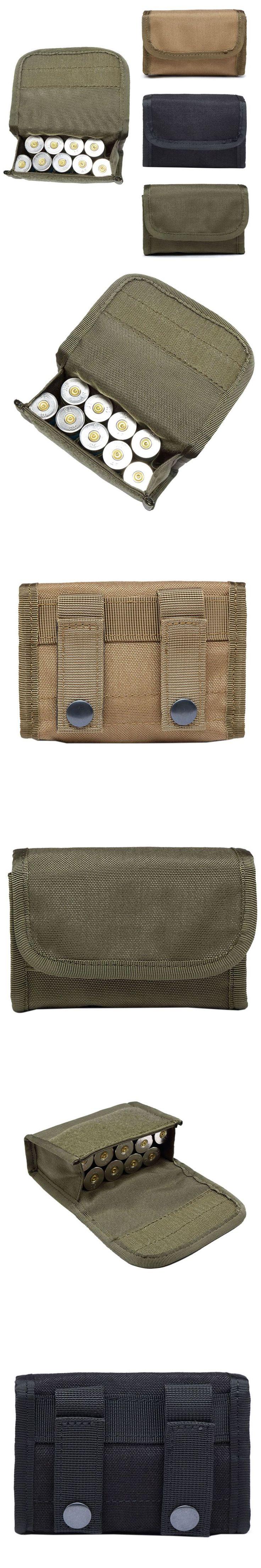 Outdoor Tactical 10 Round Shotgun Shotshell Reload Holder Molle Pouch 12 Gauge/20G Magazine Pouch Ammo Round Cartridge Holder