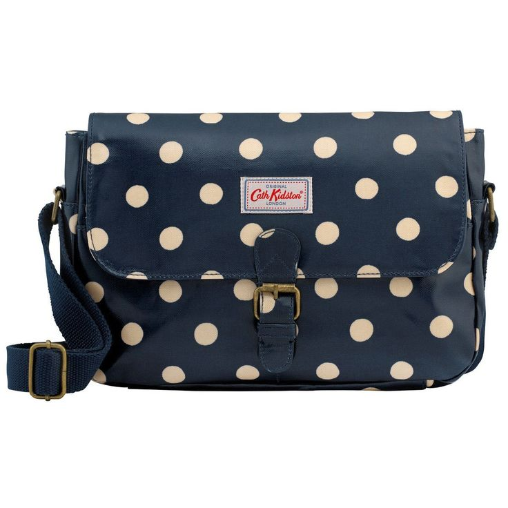 Cath Kidston Oilcloth Small Saddle Bag Crossbody 16SS Polka Button Spot Pattern Navy Colour -- Want to know more, click on the image. (This is an Amazon Affiliate link and I receive a commission for the sales)
