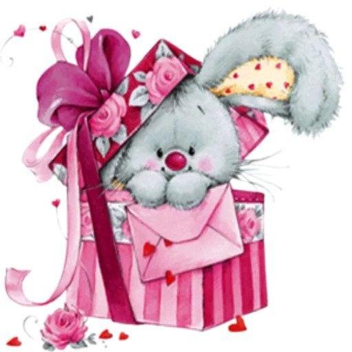 Зайчонок картинки с днем рождения
