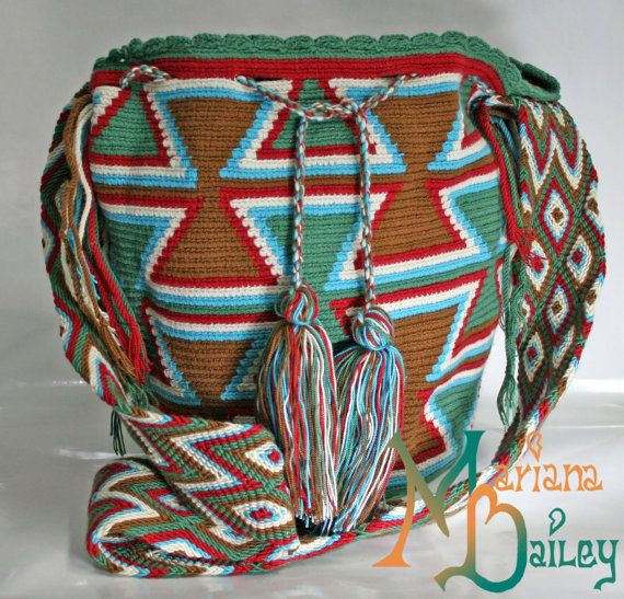 Mochila Wayuu Geometric design by MarianaBailey on Etsy