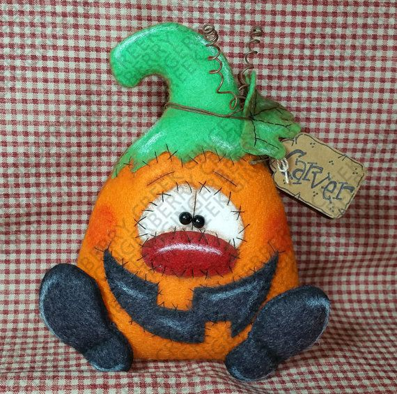E-Pattern Carver the Pumpkin Pattern 181 por GingerberryCreek