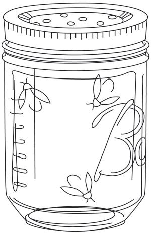 """Firefly Jar"" Free for download  through July 13, 2014 Urban Threads: Unique and Awesome Embroidery Designs"