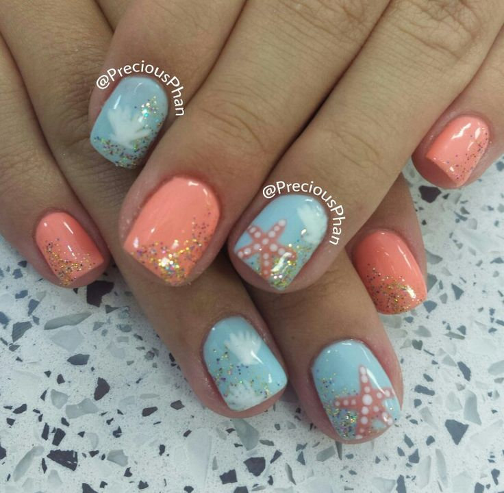 Coral Color Nail Designs: 1000+ Ideas About Beach Nails On Pinterest