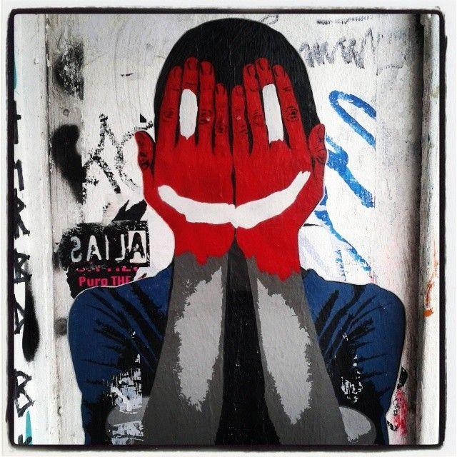 #streetart in #Kreuzberg, #Berlin... #smile #funny #Meltin'Pot