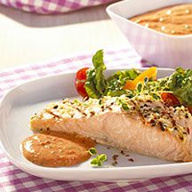 Weight Watchers - Zalm met paprika-knoflooksaus - 10pt