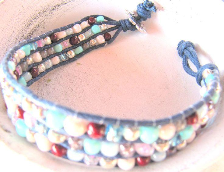 Flechtarmbänder - Armband geflochten Boho Styl Blue - ein Designerstück von MIO-O bei DaWanda