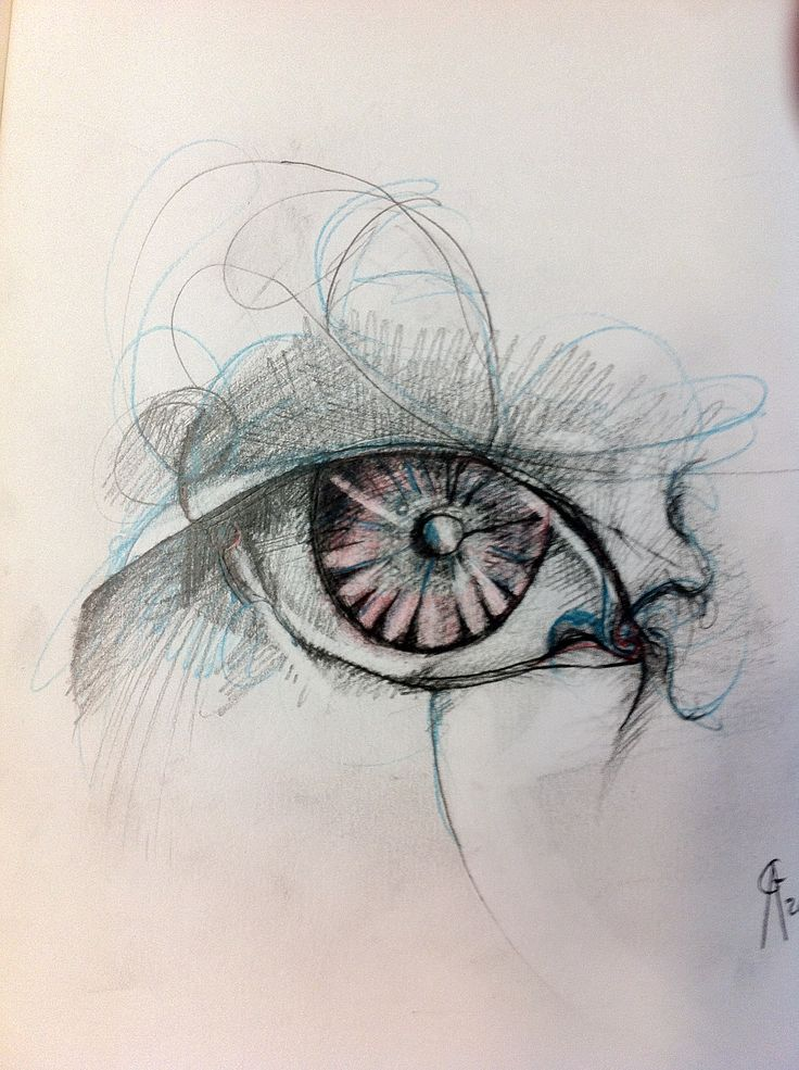 Grakus art pencil on paper 20x20cm eye